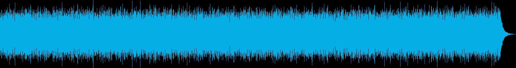 ゆったりしたエレクトロ系のBGMの再生済みの波形