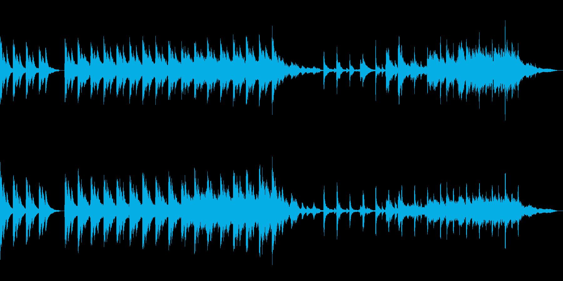 深いピアノの旋律が印象的な幻想的な楽曲の再生済みの波形