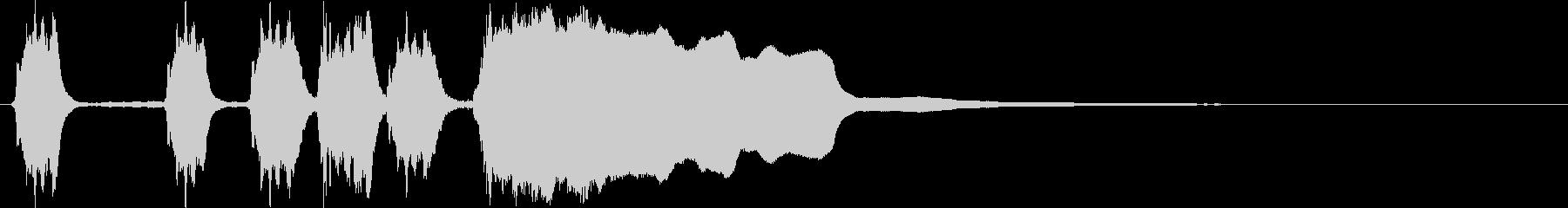 単音メロディーのシンプルなファンファーレの未再生の波形