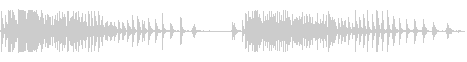 ホイール大クリックの未再生の波形