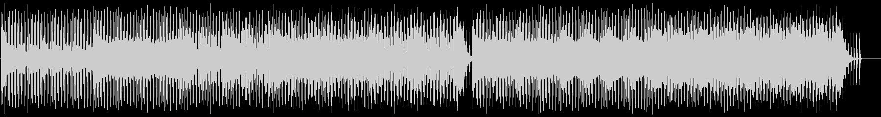 重厚でロックなテクノBGMの未再生の波形