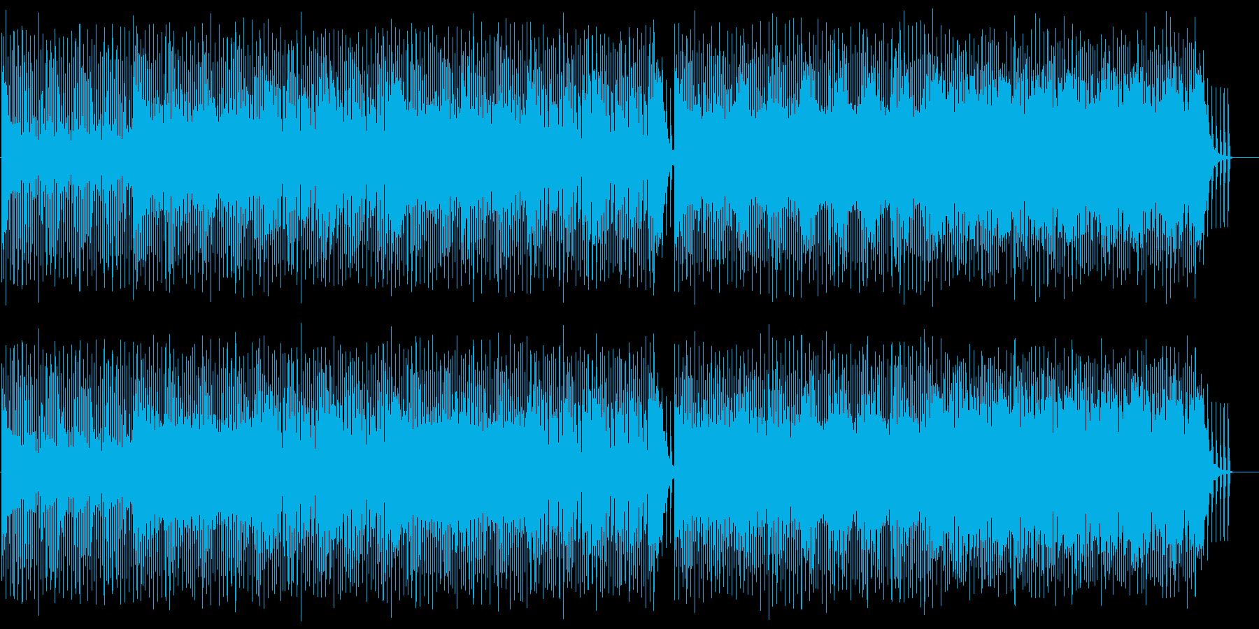 重厚でロックなテクノBGMの再生済みの波形