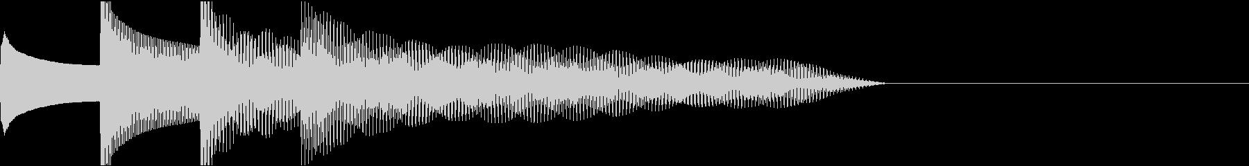 ピンポンパンポン下降チャイムA♯1の未再生の波形