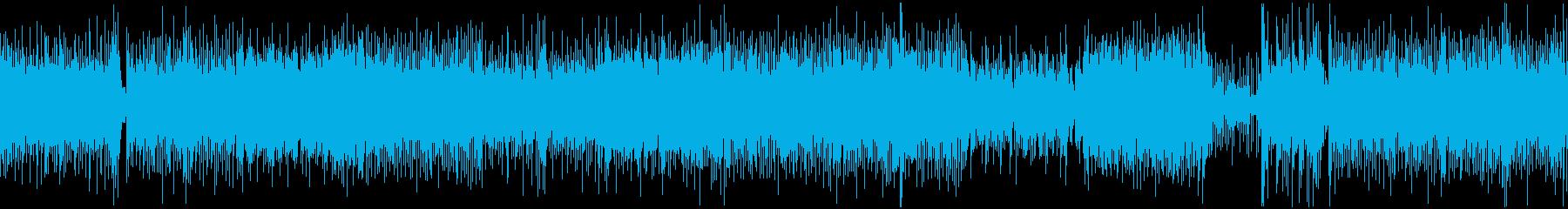和風、三味線メタル2、激しい(声なし)dの再生済みの波形