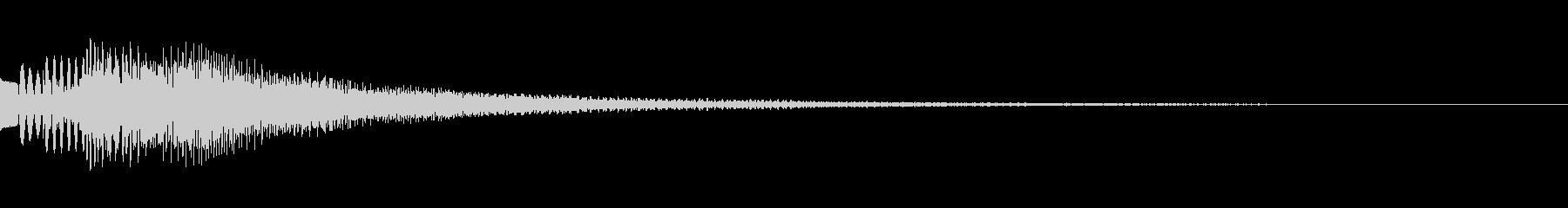 キラキラリン 上昇 オルゴール 透明感の未再生の波形