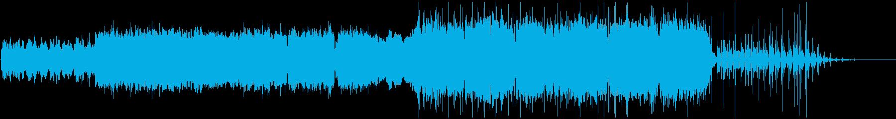 メロディアスギターインストの再生済みの波形