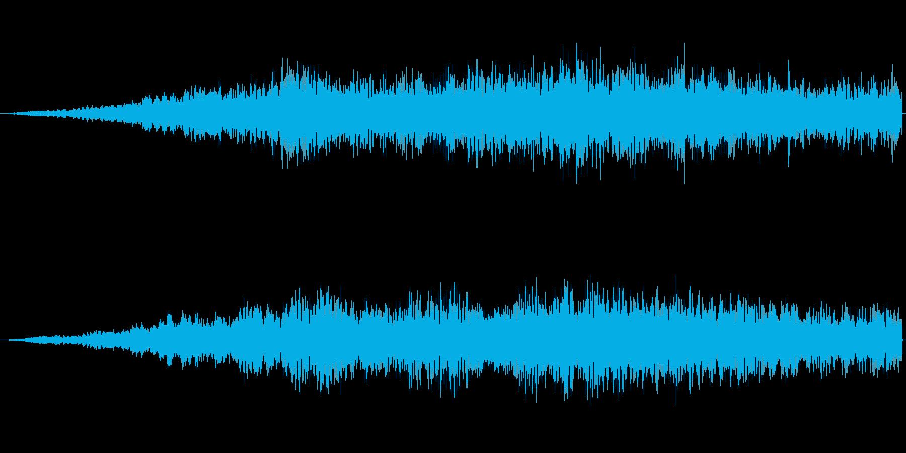 SFっぽい音その3です。「ヒュワワワワ…の再生済みの波形