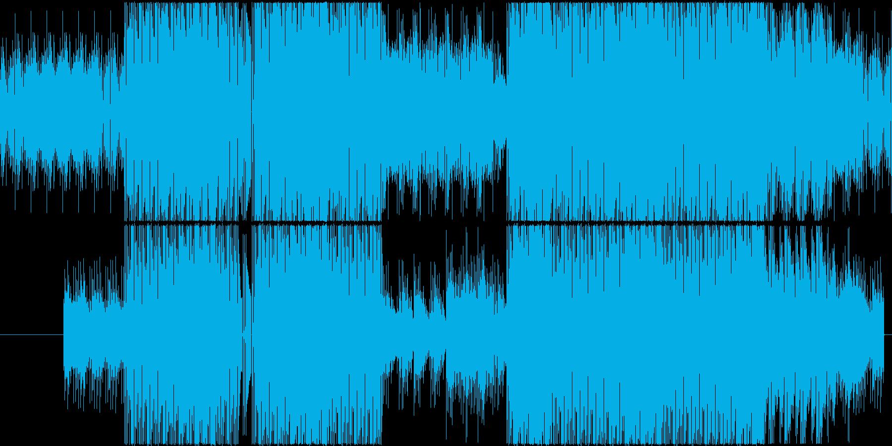 シリアスな雰囲気のHIPHOPループの再生済みの波形