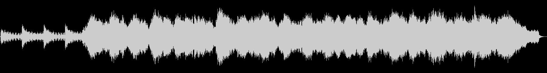 静かなシンセサイザーとケーナの音楽の未再生の波形