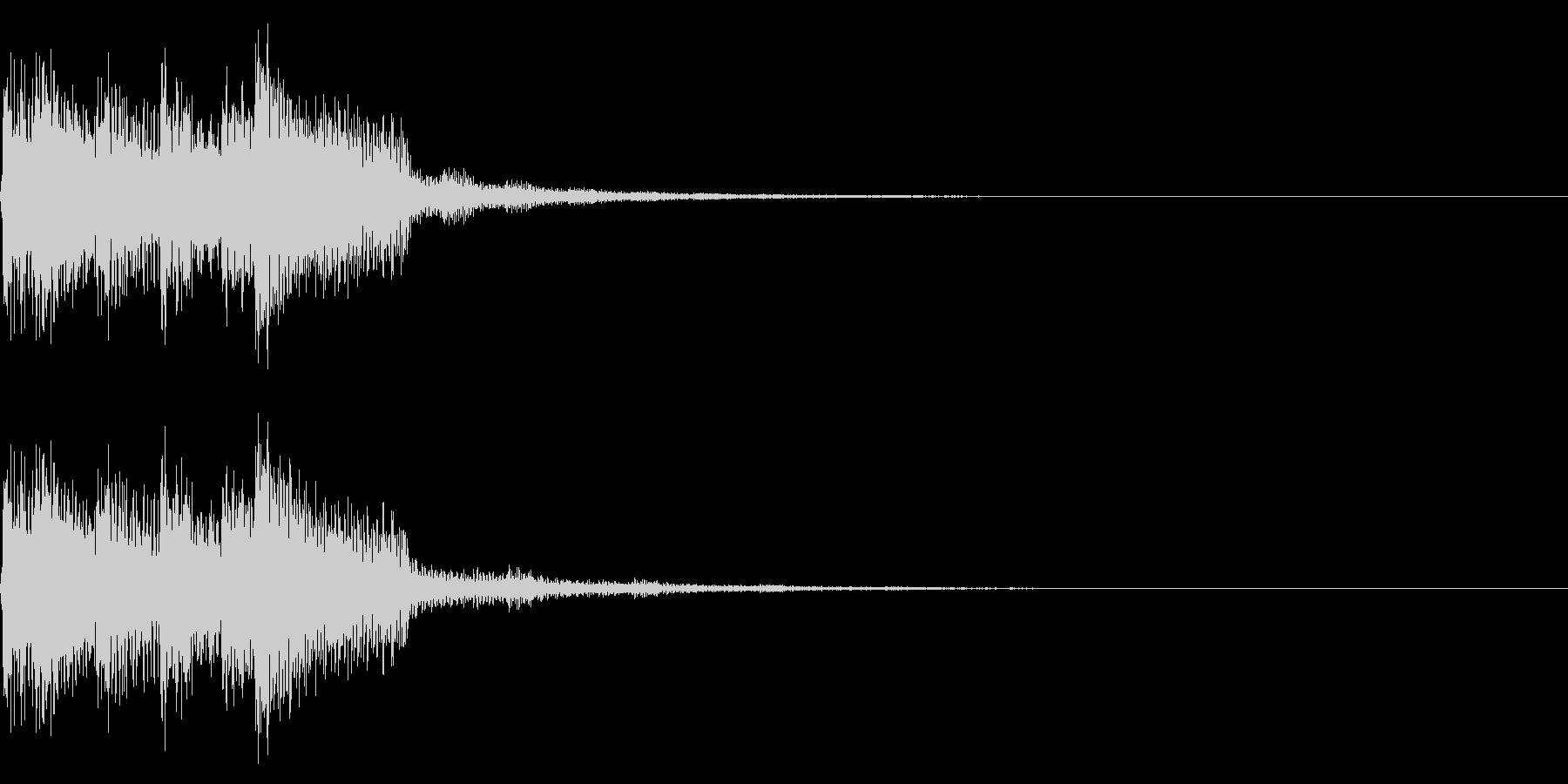 チャラリン(クリア回復ファミコン魔法#2の未再生の波形