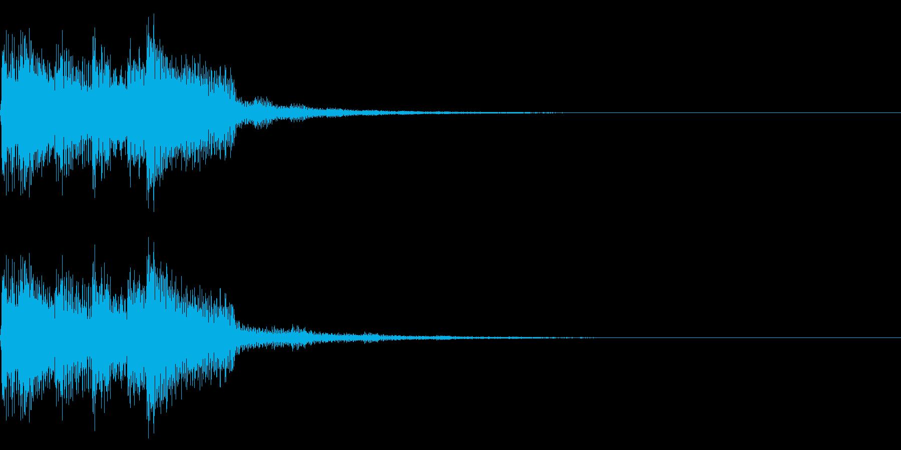 チャラリン(クリア回復ファミコン魔法#2の再生済みの波形