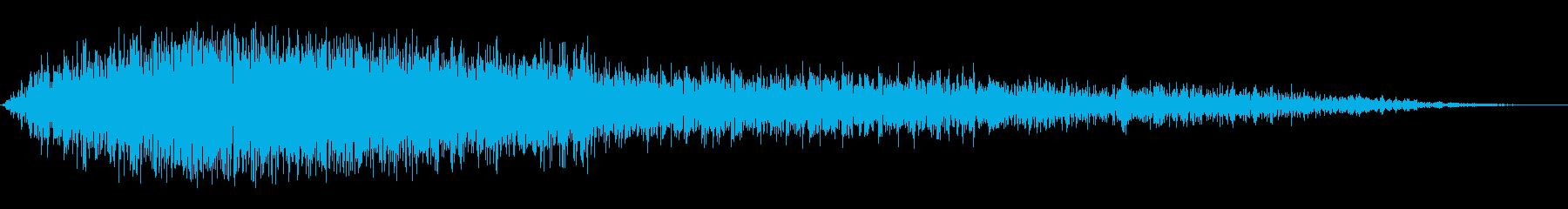 ヒィユーーーウゥというかなり強めの風の音の再生済みの波形