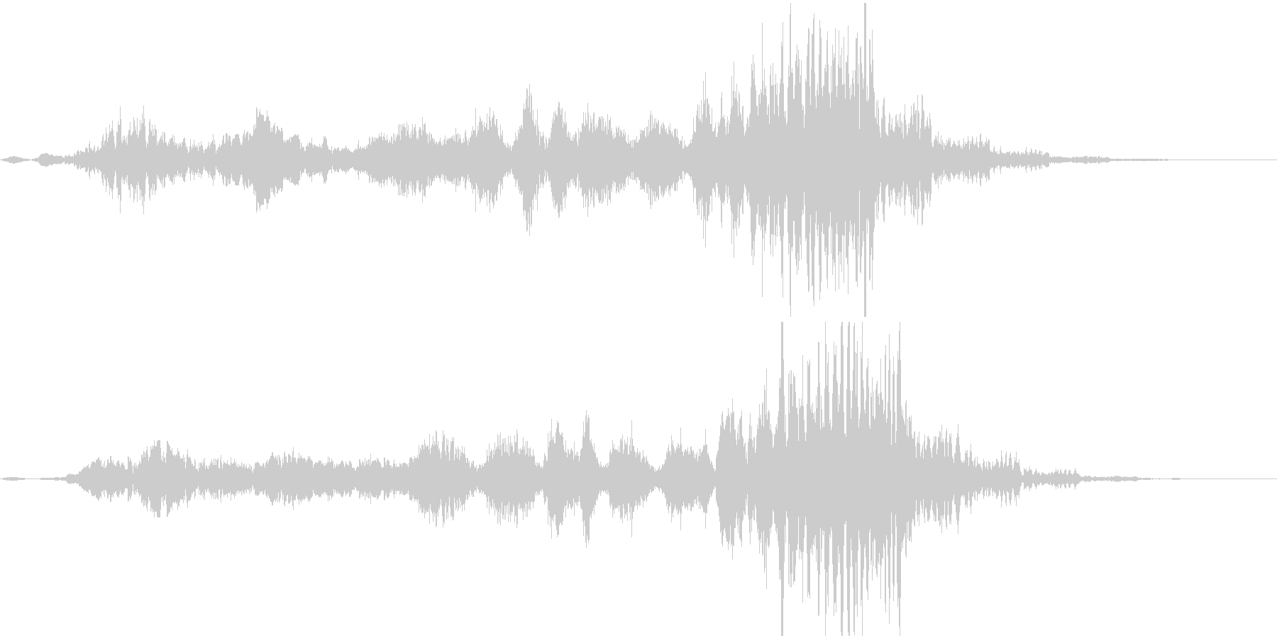 ホラー系効果音13の未再生の波形