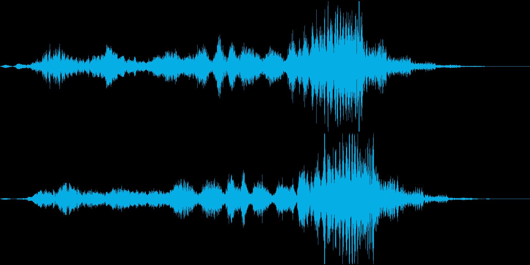 ホラー系効果音13の再生済みの波形