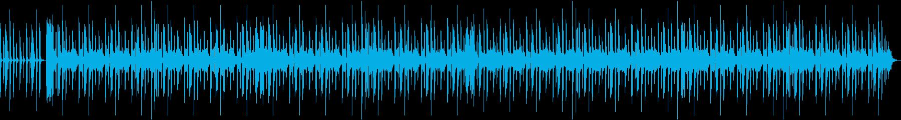 ドライブなどで流れる陽気なビートの曲の再生済みの波形
