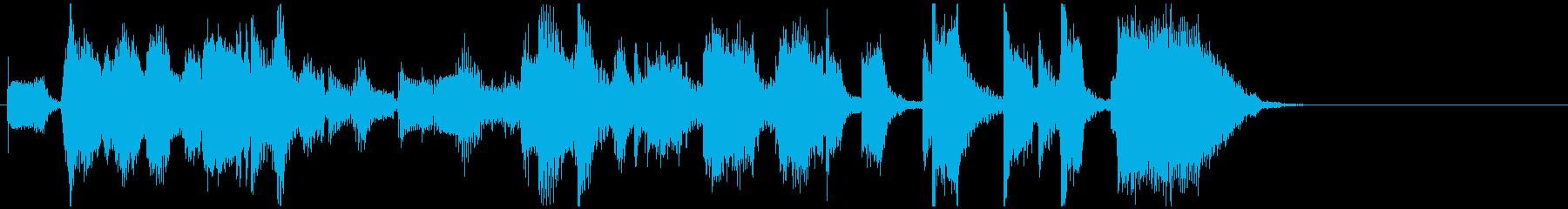 ノリ良く明るいオルガンジャズのジングルの再生済みの波形