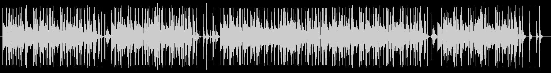 ほのぼのした口笛ソングの未再生の波形