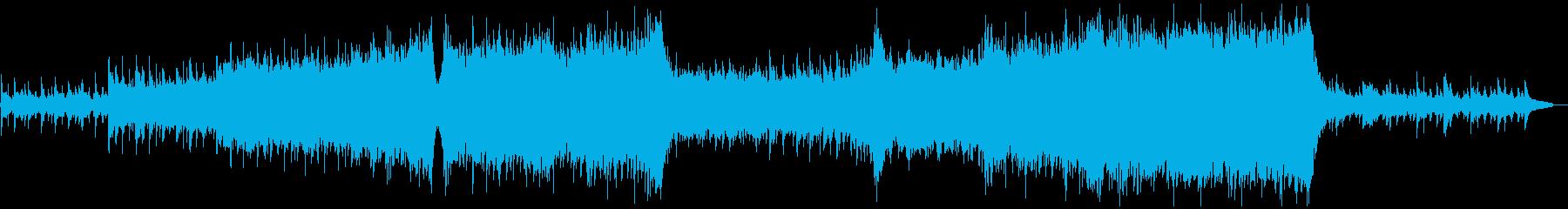 映像 動画 優しく情熱的で壮大な楽曲の再生済みの波形