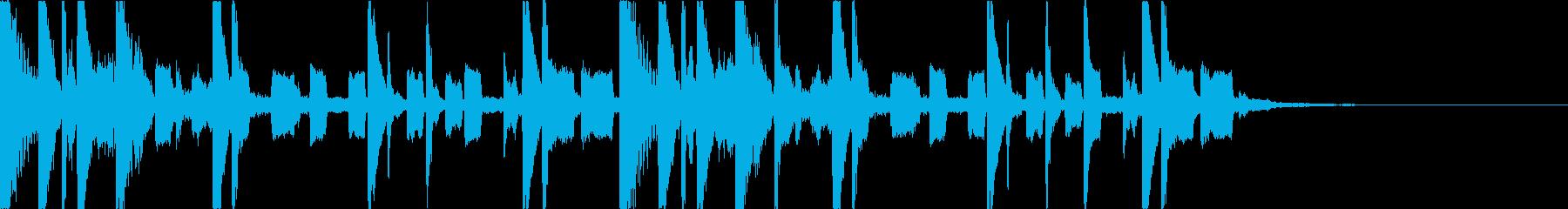 おしゃれかわいいコミカルEDMジングルの再生済みの波形