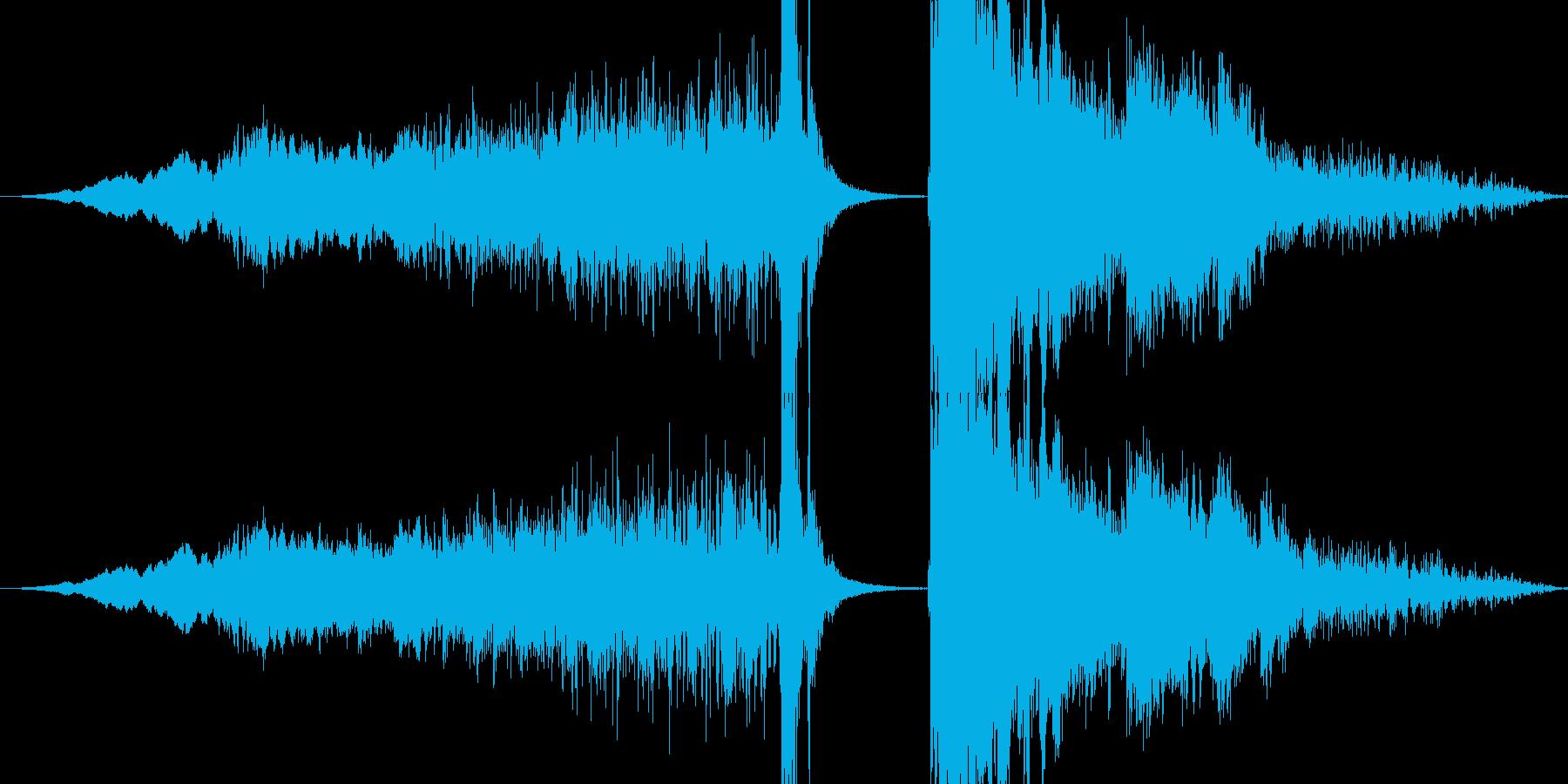 氷属性系攻撃音(キーンピシッバリーン)の再生済みの波形