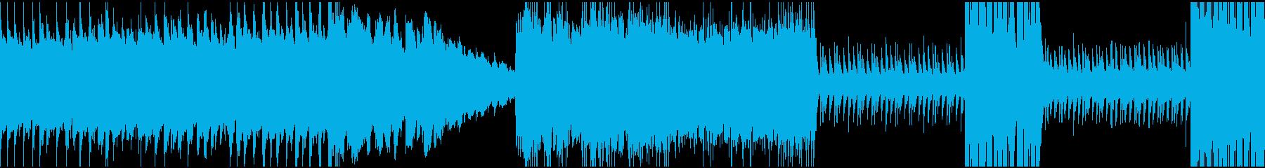 速い変拍子の曲の再生済みの波形