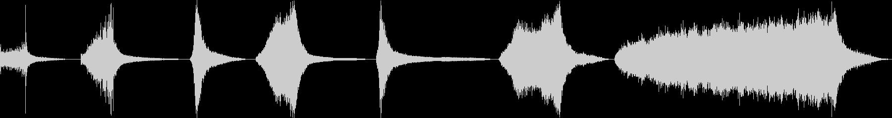 シンバル、ライド、ロール、7バージ...の未再生の波形