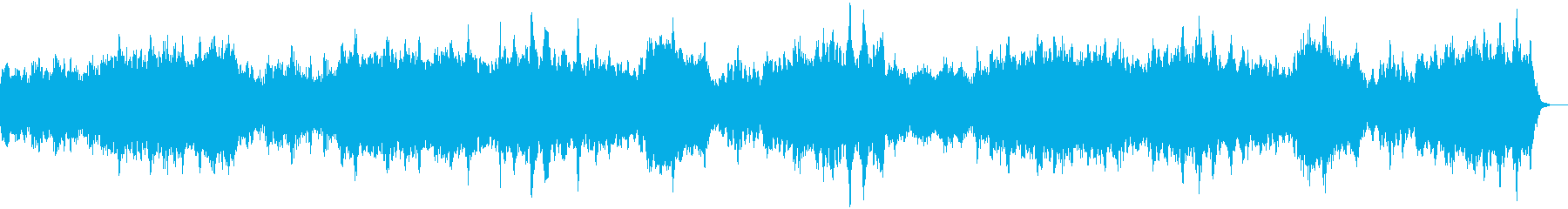 祈りのアンビエント・ヒーリングBGMの再生済みの波形