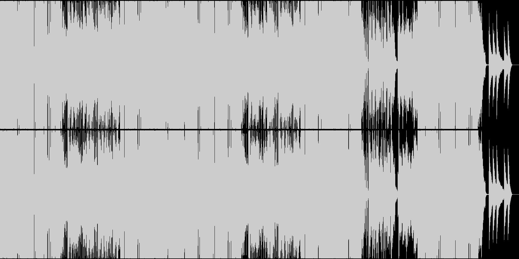おしゃれでしっとりしたヒップホップの未再生の波形