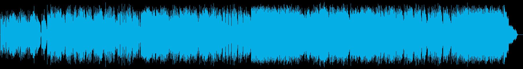 ギターと二胡によるイージーリスニング曲の再生済みの波形