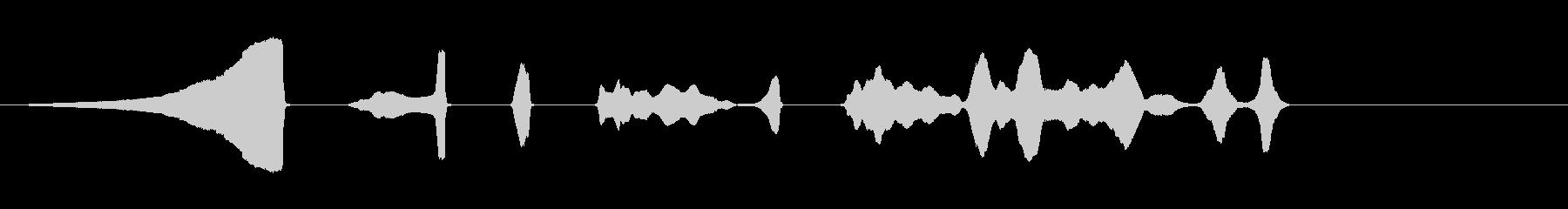 フライバズイン、ショートバック、フ...の未再生の波形