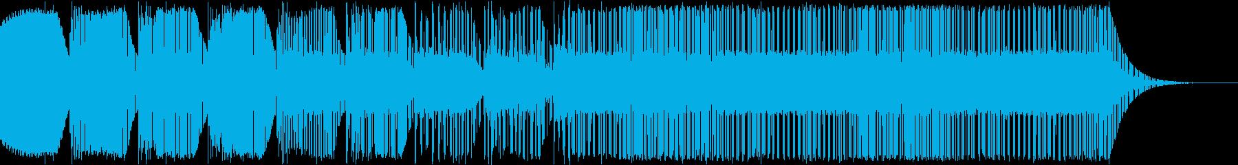 レトロゲーム ゲームオーバー風ジングルの再生済みの波形