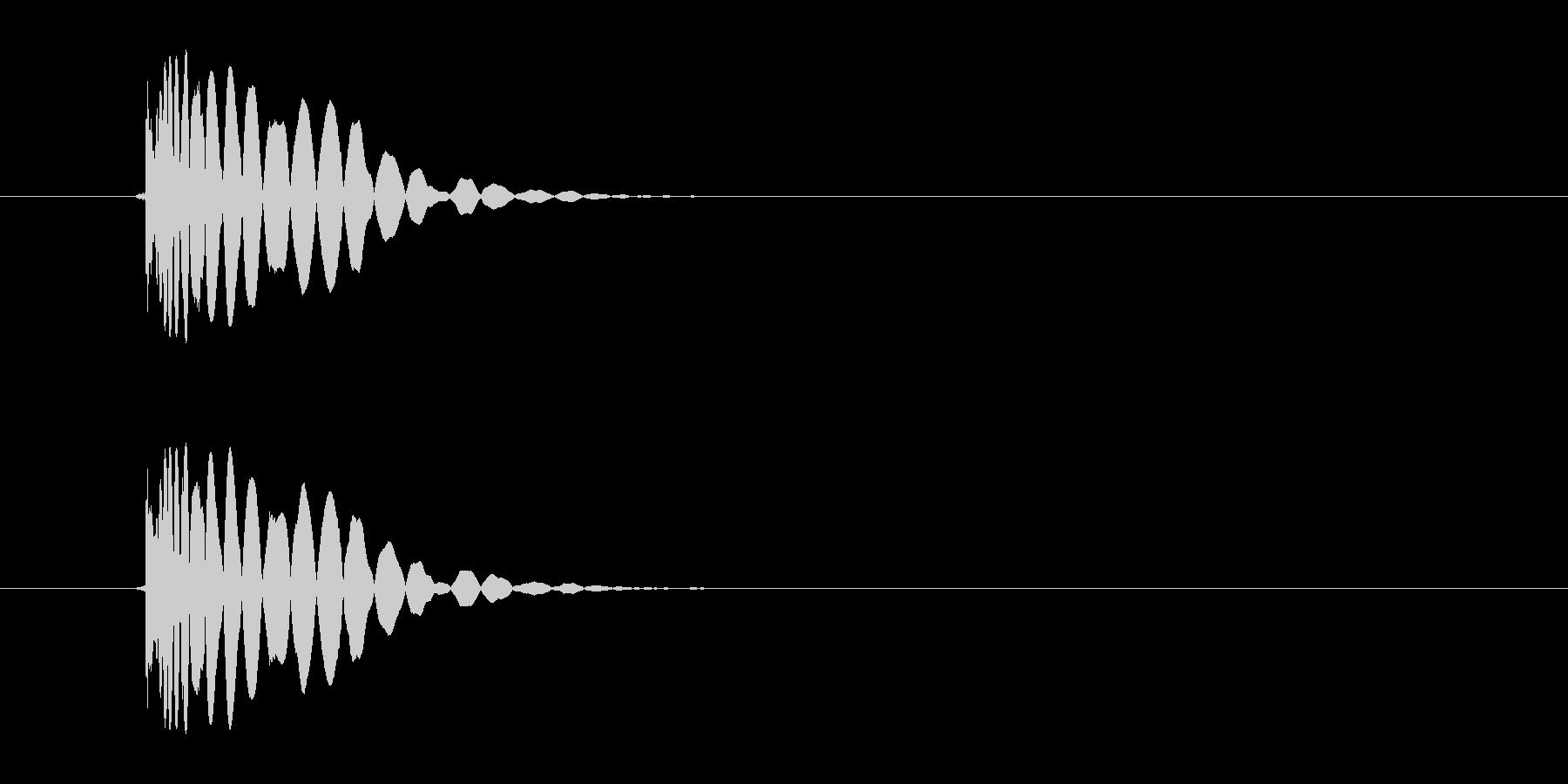 ヒット音(蹴る-7 打撃のインパクト音)の未再生の波形