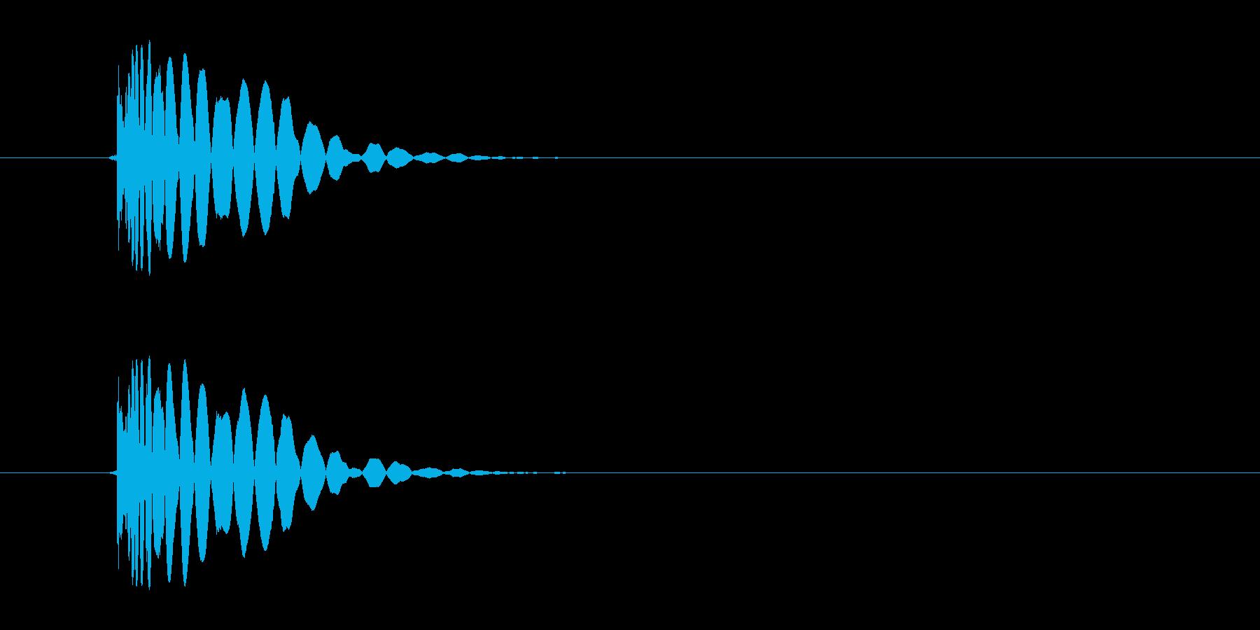 ヒット音(蹴る-7 打撃のインパクト音)の再生済みの波形