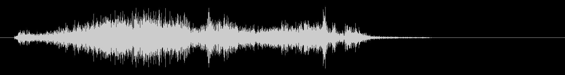 ペラッという紙のこすれる音の未再生の波形