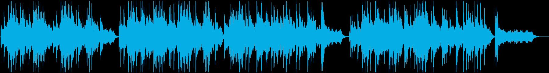 ゆったりとした明るいサウンドの再生済みの波形
