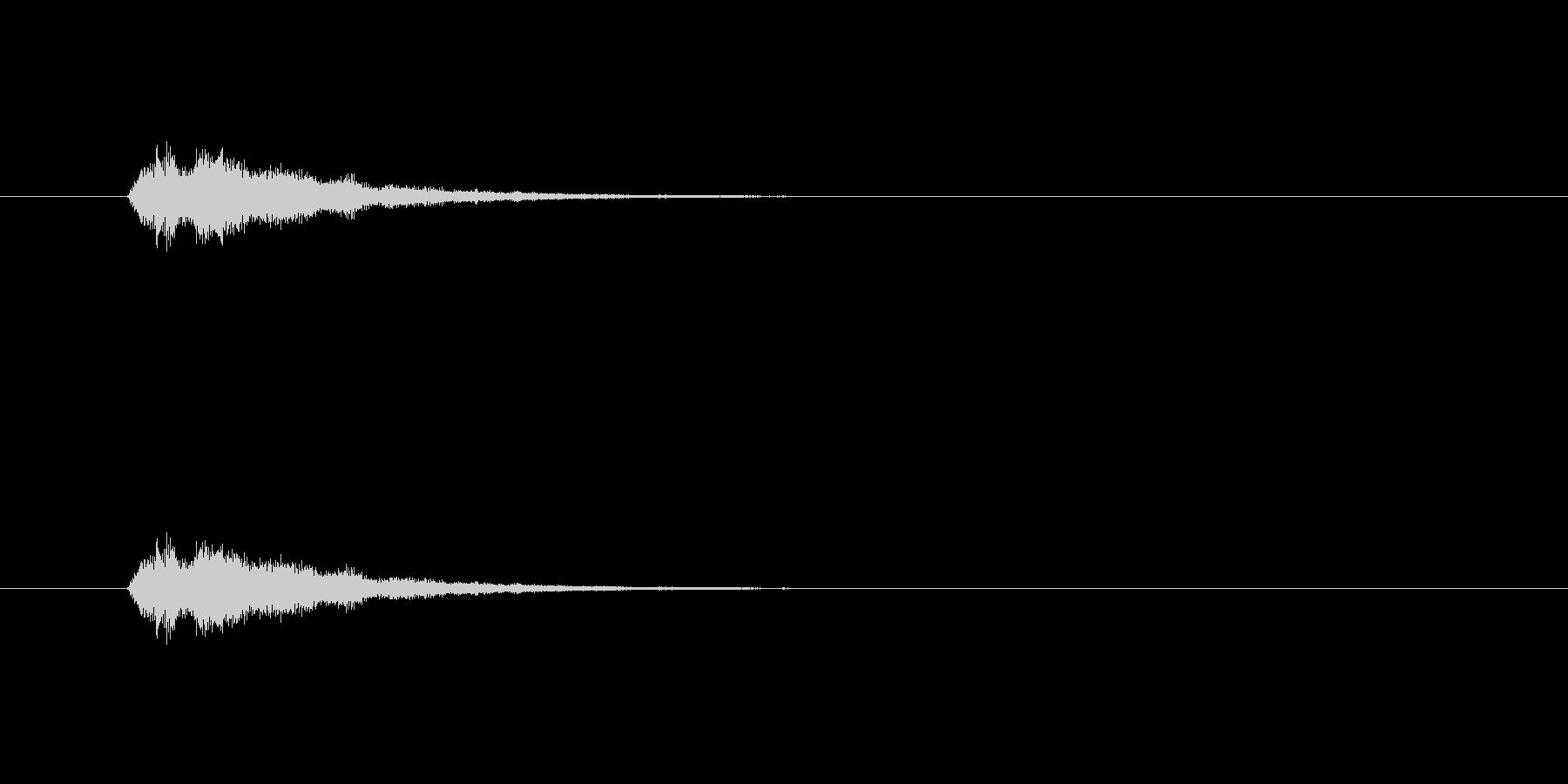 テロップの音・決定音・シャララーンの未再生の波形