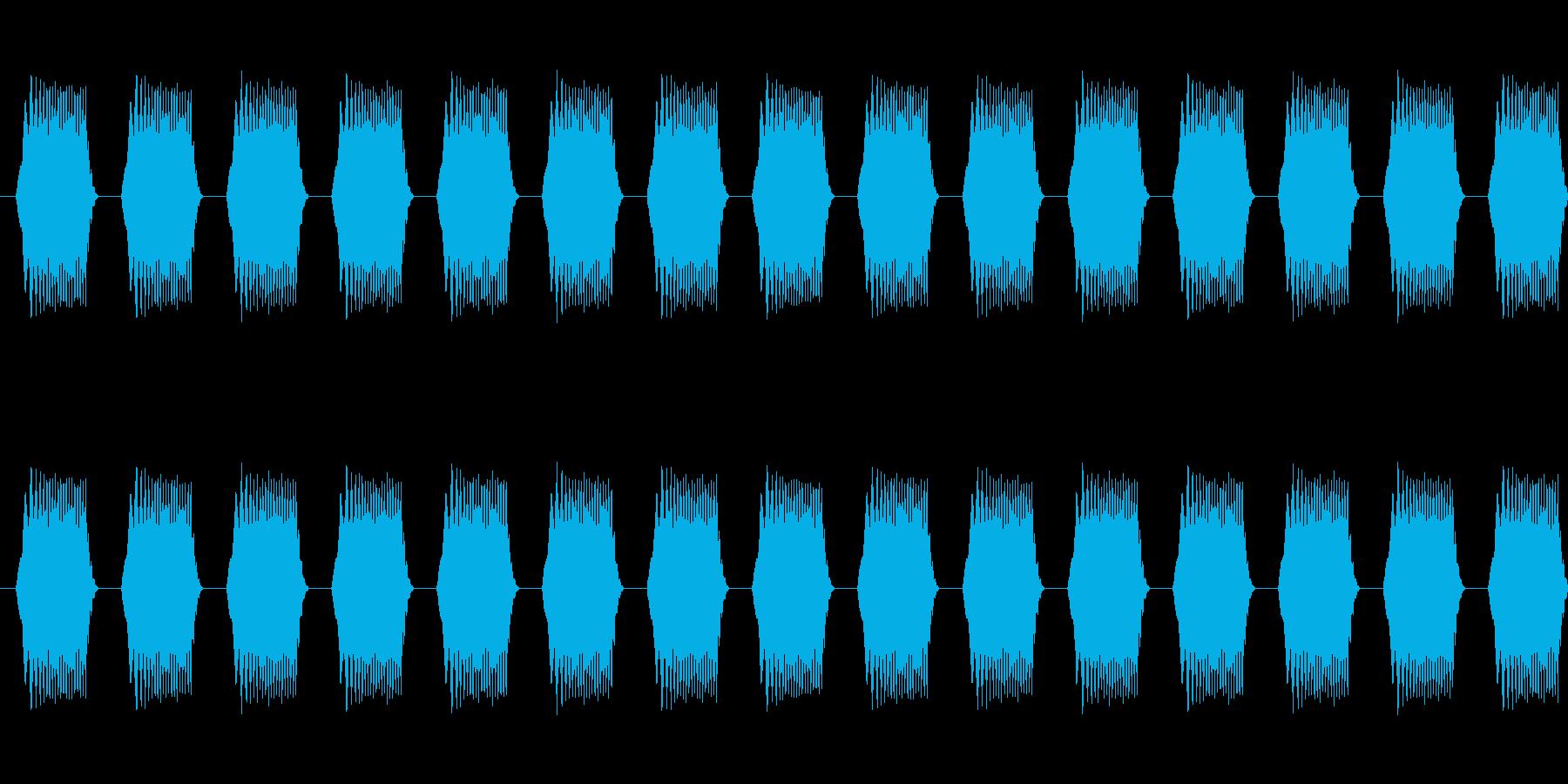 警告・注意・アラート音01(ループ対応)の再生済みの波形