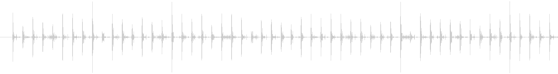 スニーカーで砂利道を走る音の未再生の波形