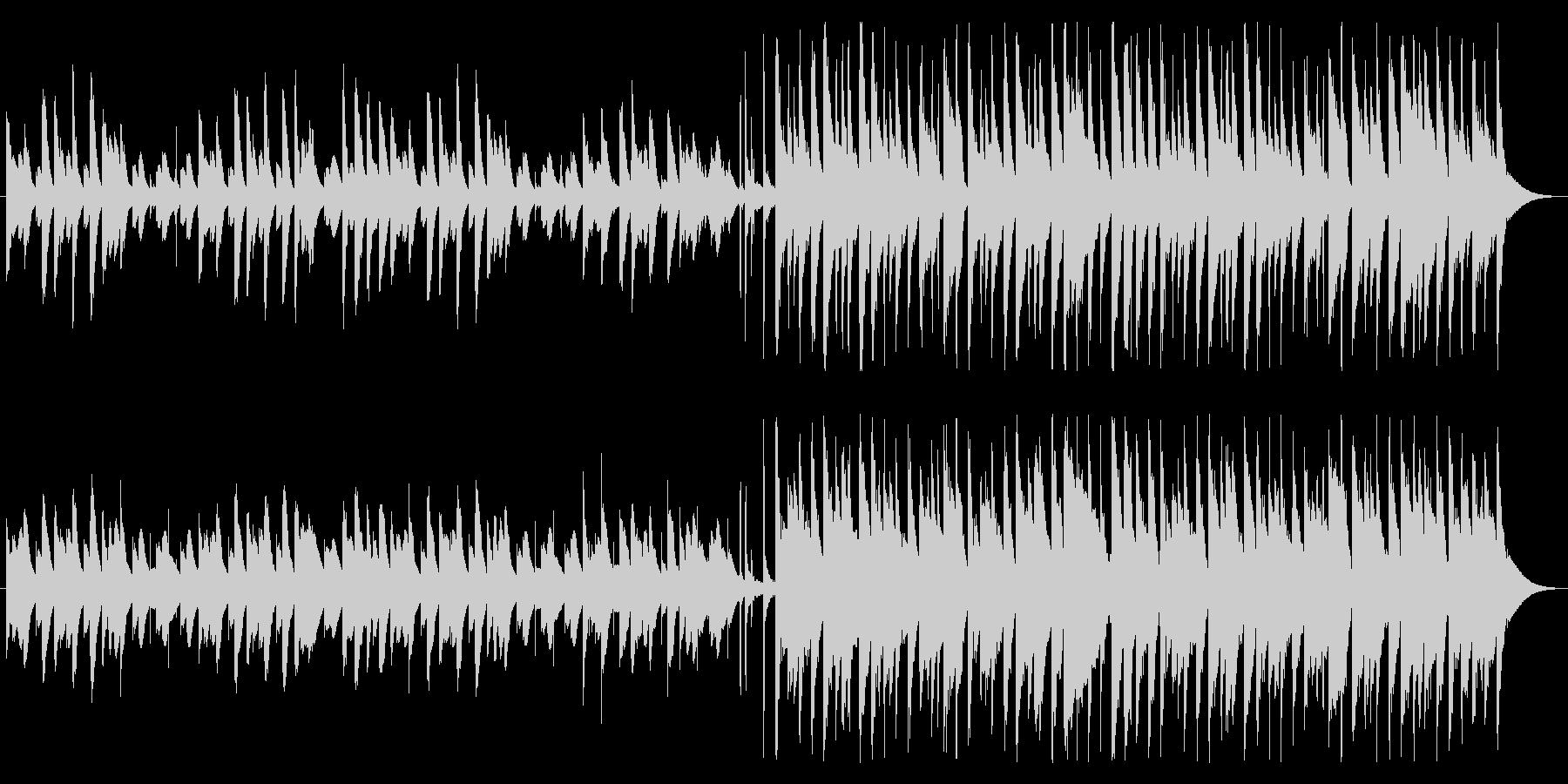 ほのぼの&ハッピーなマリンバメロディの未再生の波形