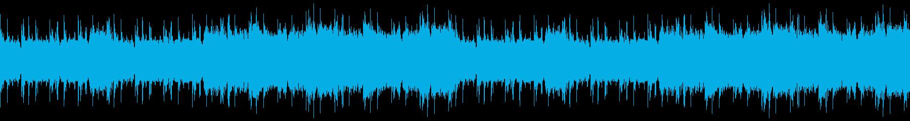 飛行機で激しく飛んでるイメージのEDMの再生済みの波形