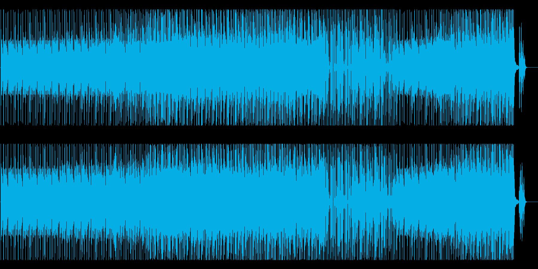 70年代テクノポップ風、不思議な雰囲気の再生済みの波形