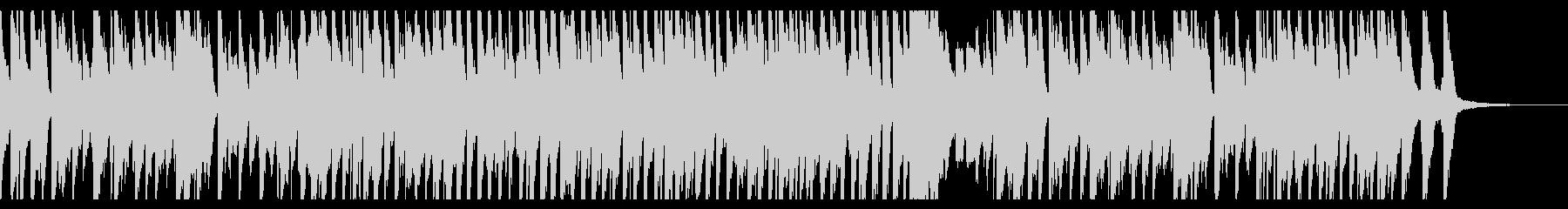 おどけた調子のピアノ曲の未再生の波形