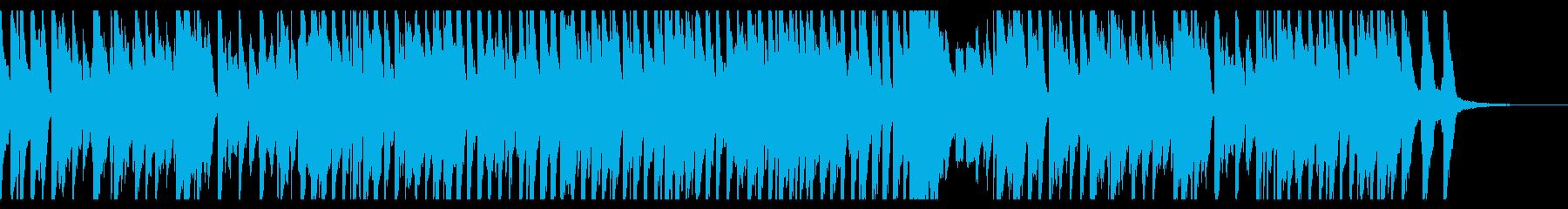 おどけた調子のピアノ曲の再生済みの波形