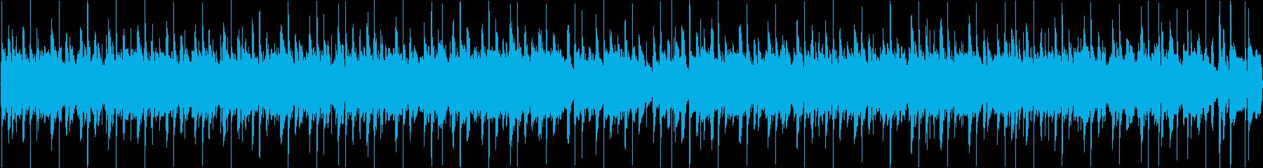 レゲエ風ポップなループの再生済みの波形