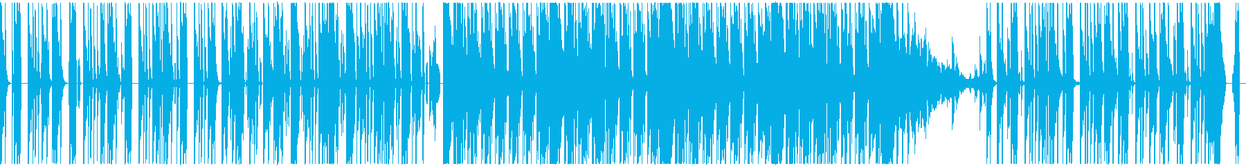 疾走感あふれるドラムとシンセの再生済みの波形