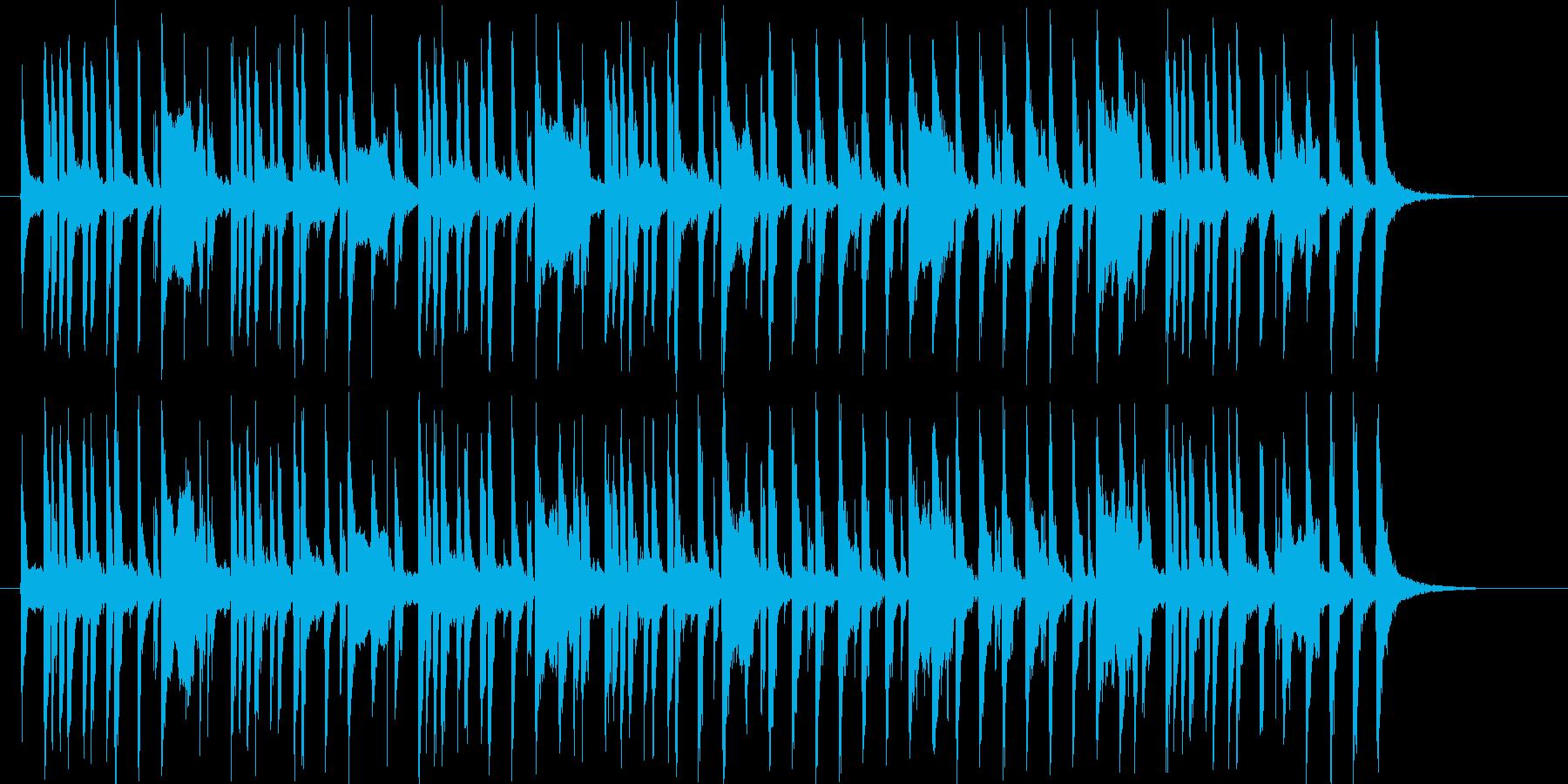 ほのぼのとしたポップスのジングルの再生済みの波形