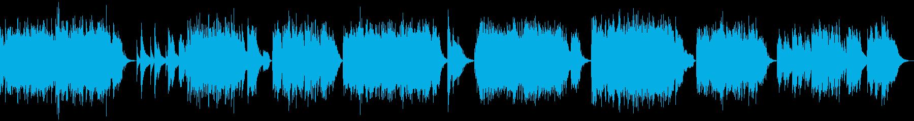 7曲の短編ソロピアノ曲集の再生済みの波形