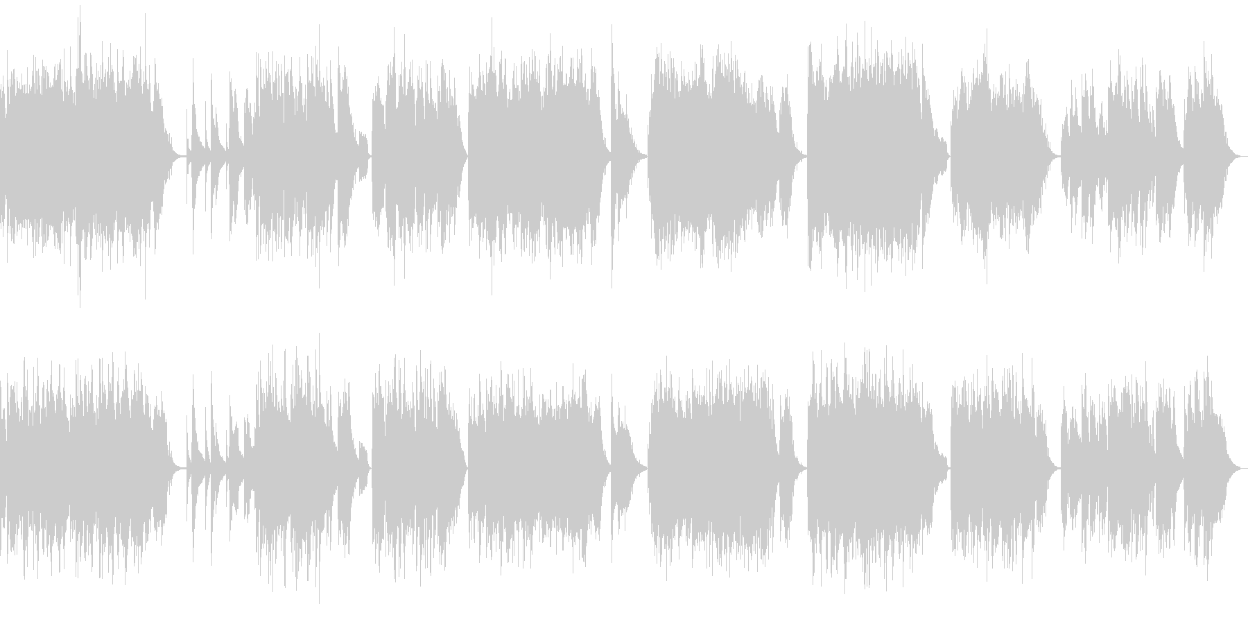 7曲の短編ソロピアノ曲集の未再生の波形