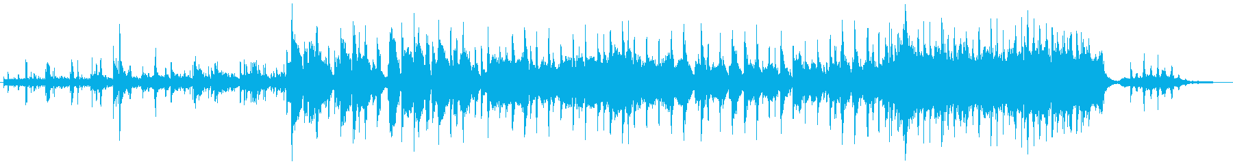穏やかな日常や思い出すシーンBGMの再生済みの波形