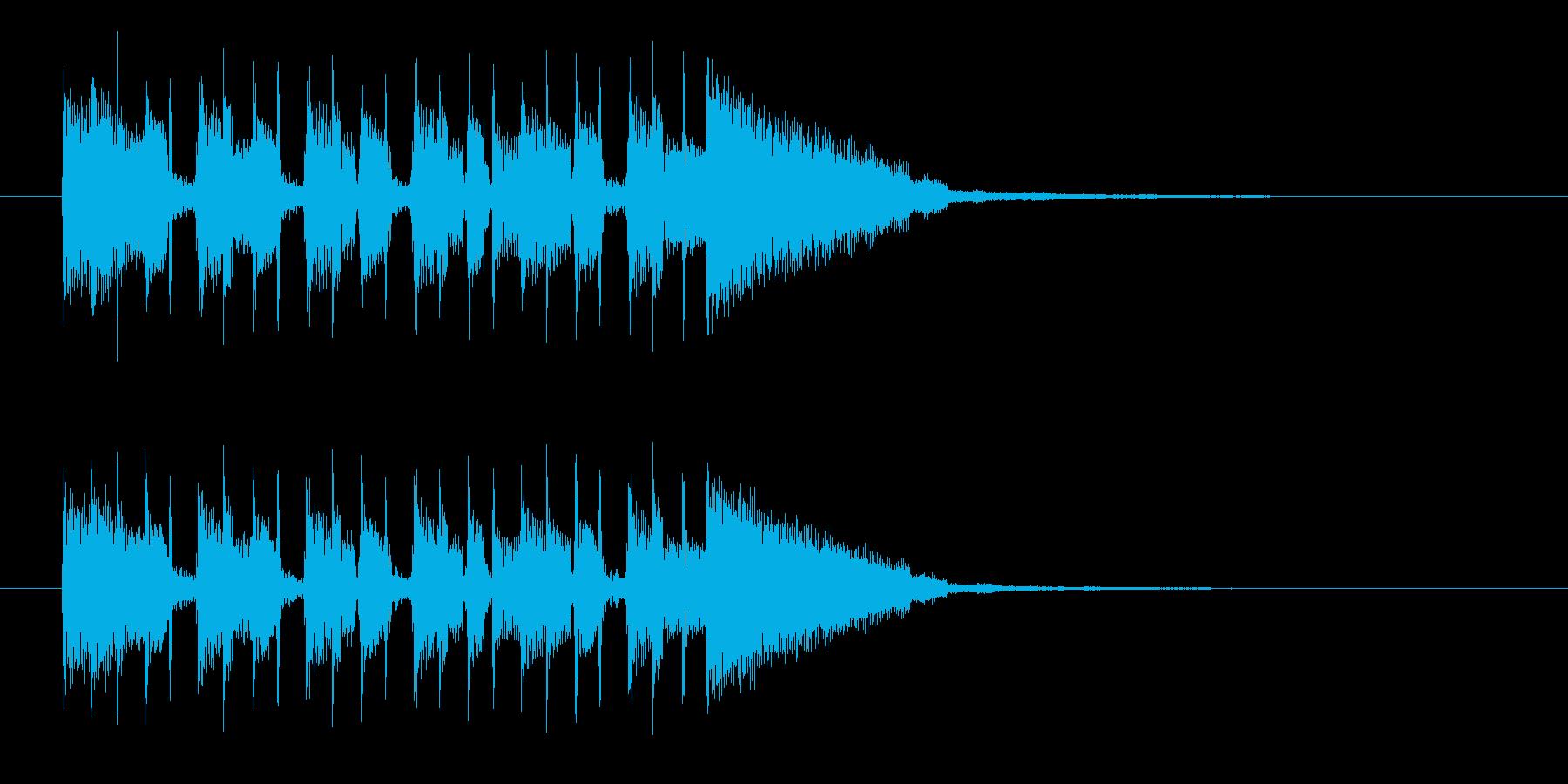 シンプルでキャッチ―なエレキジングルの再生済みの波形
